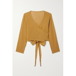 Caravana - Lahun Cropped Cotton-gauze Top - Chartreuse found on MODAPINS from NET-A-PORTER UK for USD $209.21