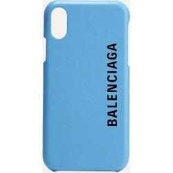 Balenciaga - Printed Textured-leather Iphone X Case - Light blue