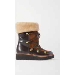 Grenson - Camille Shearling-lined Suede And Leather Ankle Boots - Brown found on MODAPINS from NET-A-PORTER UK for USD $494.75