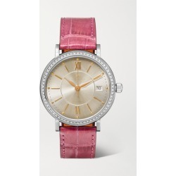 IWC SCHAFFHAUSEN - Portofino Automatic 37mm Stainless Steel, Alligator And Diamond Watch - Pink found on Bargain Bro Philippines from NET-A-PORTER for $10200.00