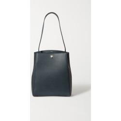 Valextra - Brera Textured-leather Shoulder Bag - Navy