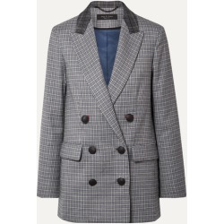 rag & bone - Ellie Double-breasted Checked Wool-blend Blazer - Gray found on MODAPINS from NET-A-PORTER UK for USD $623.15