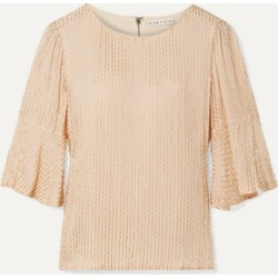 Alice Olivia - Bernice Embellished Crepe De Chine Top - Beige found on MODAPINS from NET-A-PORTER for USD $495.00