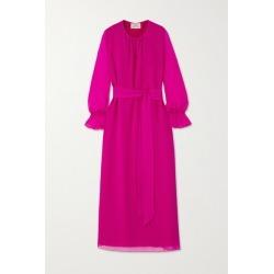 ARoss Girl x Soler - Amanda Belted Silk-voile Maxi Dress - Magenta found on Bargain Bro UK from NET-A-PORTER UK