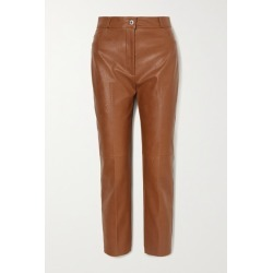 Stella McCartney - Vegetarian Leather Straight-leg Pants - Light brown found on Bargain Bro UK from NET-A-PORTER UK
