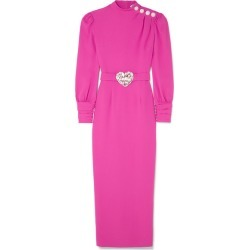 Alessandra Rich - Crystal-embellished Crepe Midi Dress - Fuchsia found on MODAPINS from NET-A-PORTER UK for USD $2423.79