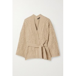 Loro Piana - Cable-knit Cashmere Cardigan - Beige found on MODAPINS from NET-A-PORTER for USD $2925.00