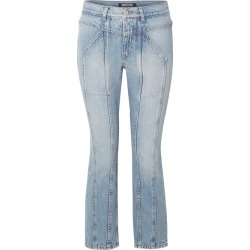 Adaptation - Rider Cropped Paneled High-rise Skinny Jeans - Mid denim found on MODAPINS from NET-A-PORTER UK for USD $544.53