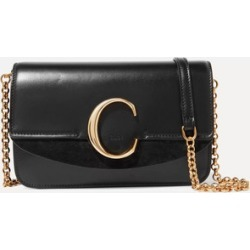 Chloé - Chloé C Mini Suede-trimmed Leather Shoulder Bag - Black found on MODAPINS from NET-A-PORTER UK for USD $1016.57