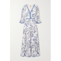 Le Sirenuse Positano - Bella Tiered Printed Cotton-voile Maxi Dress - Blue found on MODAPINS from NET-A-PORTER UK for USD $534.02