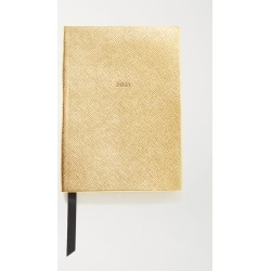 Smythson - 2021 Soho Diary Metallic Textured-leather Notebook - Gold found on Bargain Bro UK from NET-A-PORTER UK