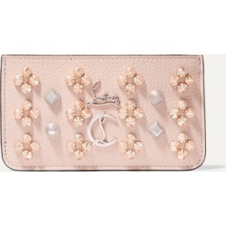 Christian Louboutin - Credilou Spiked Textured-leather Wallet - Baby pink found on Bargain Bro UK from NET-A-PORTER UK