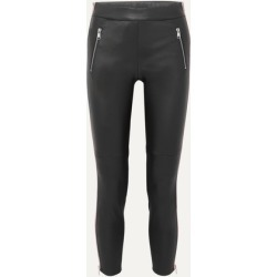 Alexander McQueen - Two-tone Leather Skinny Pants - Black