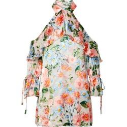 Alice Olivia - Blayne Cold-shoulder Devoré-chiffon Mini Dress - Ivory found on MODAPINS from NET-A-PORTER for USD $140.00