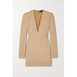 David Koma - Crystal-embellished Crepe Mini Dress - Sand found on MODAPINS from NET-A-PORTER for USD $2280.00