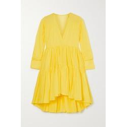 Kalita - Vega Tiered Cotton-voile Mini Dress - Saffron found on MODAPINS from NET-A-PORTER for USD $566.00