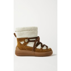Moncler - Insolux Suede And Shearling Snow Boots - Tan found on Bargain Bro UK from NET-A-PORTER UK