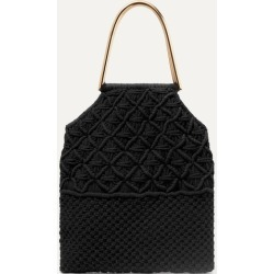 Ulla Johnson - Kala Crocheted Cotton Tote - Black found on MODAPINS from NET-A-PORTER UK for USD $533.70