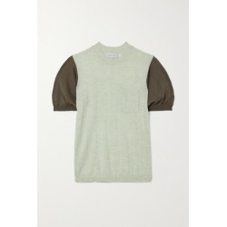 Lee Mathews - Two-tone Tencel Sweater - Mint found on MODAPINS from NET-A-PORTER for USD $299.00