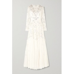 Needle & Thread - Ruffled Sequin-embellished Tulle Gown - Ivory found on Bargain Bro UK from NET-A-PORTER UK