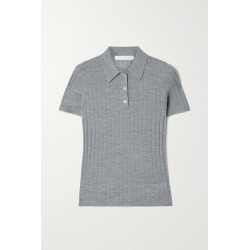 Dion Lee - Ribbed Merino Wool Polo Shirt - Gray found on MODAPINS from NET-A-PORTER UK for USD $419.78
