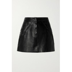 Nili Lotan - Kade Paneled Leather Mini Skirt - Black found on MODAPINS from NET-A-PORTER UK for USD $636.32