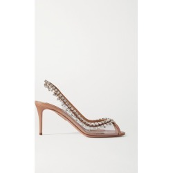 Aquazzura - Temptation 75 Crystal-embellished Pvc And Leather Slingback Sandals - Neutral found on Bargain Bro Philippines from NET-A-PORTER for $1250.00