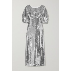 Huishan Zhang - Alessia Sequined Crepe Gown - Silver found on MODAPINS from NET-A-PORTER UK for USD $2610.29