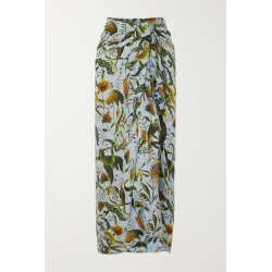 Dodo Bar Or - Annabel's Printed Cotton-voile Pareo - Sky blue found on Bargain Bro Philippines from NET-A-PORTER for $190.00
