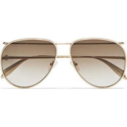 Alexander McQueen - Aviator-style Gold-tone Sunglasses - one size found on MODAPINS from NET-A-PORTER UK for USD $400.00