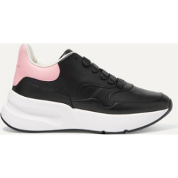 Alexander McQueen - Leather Exaggerated-sole Sneakers - Black found on MODAPINS from NET-A-PORTER for USD $354.00
