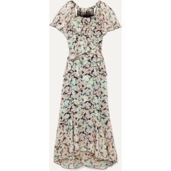 Anna Sui - Night Bloom Printed Fil Coupé Silk-blend Chiffon Midi Dress - Green found on MODAPINS from NET-A-PORTER for USD $381.00