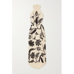 Johanna Ortiz - Ancient Dynasty Embroidered Silk Crepe De Chine Halterneck Maxi Dress - Ivory found on MODAPINS from NET-A-PORTER for USD $2250.00