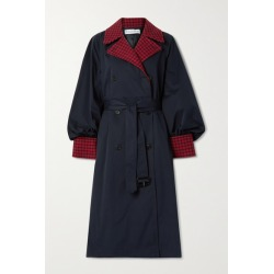JW Anderson - Wool Blend-trimmed Cotton-gabardine Trench Coat - Navy found on MODAPINS from NET-A-PORTER for USD $1565.00