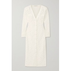 Alessandra Rich - Corded Lace Midi Dress - White found on MODAPINS from NET-A-PORTER for USD $1074.50