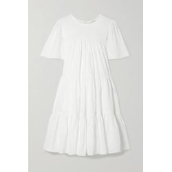 Anine Bing - Tabitha Tiered Seersucker Mini Dress - White found on MODAPINS from NET-A-PORTER UK for USD $384.02