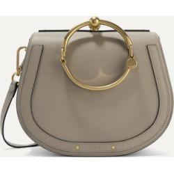 Chloé - Nile Bracelet Medium Textured-leather And Suede Shoulder Bag - Gray found on Bargain Bro UK from NET-A-PORTER UK