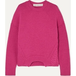 Golden Goose - Momoirobara Paneled Merino Wool Sweater - Pink found on Bargain Bro UK from NET-A-PORTER UK