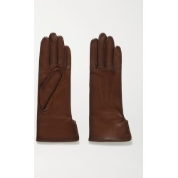Agnelle - Fanny Leather Gloves - Chocolate found on MODAPINS from NET-A-PORTER UK for USD $101.45
