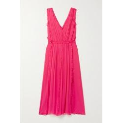 Jason Wu - Ruffled Silk-crepon Midi Dress - Bright pink found on Bargain Bro UK from NET-A-PORTER UK