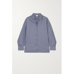 MAX MARA - + Leisure Esopo Pinstriped Cotton-poplin Shirt - Blue found on Bargain Bro India from NET-A-PORTER for $215.00