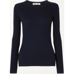 Alex Mill - Ribbed Wool And Cotton-blend Sweater - Midnight blue found on MODAPINS from NET-A-PORTER for USD $60.00