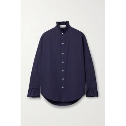 ALEX MILL - Ruffled Cotton-poplin Shirt - Blue found on Bargain Bro India from NET-A-PORTER for $110.00