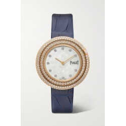 Piaget - Possession 34mm 18-karat Rose Gold, Alligator And Diamond Watch found on MODAPINS from NET-A-PORTER for USD $23800.00