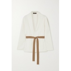 Loro Piana - Belted Silk And Cotton-blend Cardigan - Ivory found on MODAPINS from NET-A-PORTER for USD $2575.00