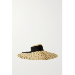 Eugenia Kim - Mirabel Grosgrain-trimmed Woven Straw Hat - Beige found on MODAPINS from NET-A-PORTER UK for USD $534.69
