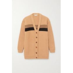 Fendi - Striped Cotton-blend Cardigan - Brown found on MODAPINS from NET-A-PORTER UK for USD $1227.42
