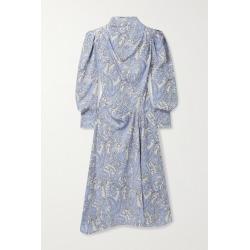 Isabel Marant - Berni Draped Printed Lyocell-twill Midi Dress - Blue found on Bargain Bro UK from NET-A-PORTER UK