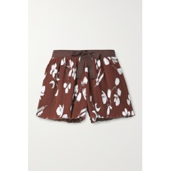 Halpern - Metallic Printed Crepon Shorts - Brown found on MODAPINS from NET-A-PORTER UK for USD $444.42