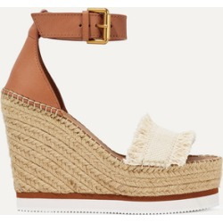 See By Chloé - Canvas And Leather Espadrille Wedge Sandals - Tan